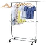Crémaillère lourde compressible de bride de fixation de vêtement de crémaillère de vêtement de laminage des métaux