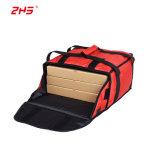 12-14 يصمّم بوصة كبيرة يعزل بيتزا تسليم حقيبة أحمر