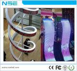 Nse super dünner farbenreicher flexibler LED Innenbildschirm-Videodarstellung