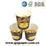 Ciré personnalisé jetables Coupe du papier de 4 oz à emporter
