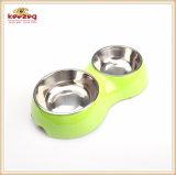 Версия двойной чашу с чаши из нержавеющей стали для собак (KE0022)