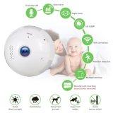 Panoramische Baby-Kamera der Birnen-Kamera-2MP, WiFi Birnen-Kamera 360° Panoramische Fisheye Objektiv-drahtlose Kamera mit LED-Licht und Nachtsicht