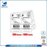 Troqueladas en blanco Autoadhesivo 8.5*11 Etiqueta de envío