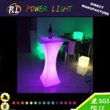 Batería recargable de la barra de plástico de colores LED muebles mesa de cóctel