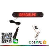 748 LED rojo y el mensaje de desplazamiento programable con Mini LED Mando a distancia RF Ventanilla firmar