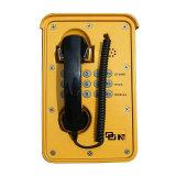 À prova de IP66 Telefone Exterior industrial para o túnel de telefone de emergência
