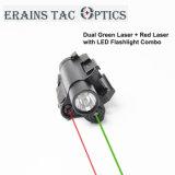 Multifuncional tático montado pistola Glock 3 em 1 a laser vermelho e verde Vista com uma lanterna LED