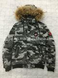 188173Un imprimé camouflage de qualité supérieure le phoque à capuchon Mens blouson épais pour l'hiver