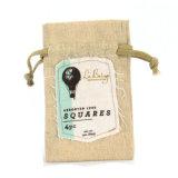 習慣によって印刷される安いバーラップのギフトのドローストリングの袋の卸売安く(CJB1110)