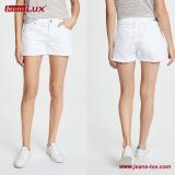 Hot Sale Mesdames fashion Mini robe coupe classique denim shorts/ Femmes Shorts Jeans denim blanc par le fabricant Jeans-Lux Jl-Sh067