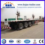 Bessere Qualität Jsxt 3axles Flachbettbehälter-LKW-halb Schlussteil-LKW-Schlussteil