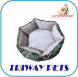 Tecido impresso e do velo Rodada Cão Gato camas (WY1711081)