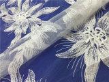 La moda francesa de bordado de encaje bordado para el traje de noche