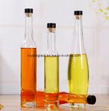 Weiße lange Stutzen-Feuerstein-Eis-Wein-Glasflasche mit Überwurfmuttern