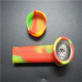 La FDA aprobó para uso alimentario irrompible Mini de silicona de mano de tabaco de pipa con recipiente de metal