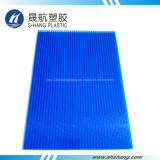 De berijpte Blauwe Bladen van de Muur van het Polycarbonaat Dubbele met UVBescherming
