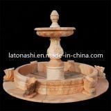 Fontaine d'eau en pierre de marbre naturel pour jardin extérieur Décoratif