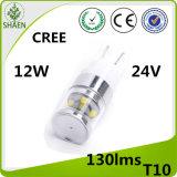 T10 CREE 12W 24V Auto cono de luz LED