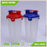 BPA liberano la tazza doppia dell'agitatore di stampa materiale di marchio dei pp