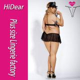 """Trajes """"sexy"""" da polícia de Halloween das mulheres positivas do tamanho com o chapéu de vestido Badage do carnaval"""
