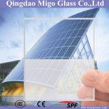 Cristal Arco panel solar de 3,2 mm templado nivel bajo de hierro