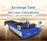 Máquina de estaca Lm3015A do laser da fibra do metal com tabela da troca
