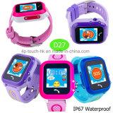 IP67は防水するSosボタン(D27)が付いている子供GPSの追跡者の腕時計を