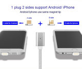 2 magnéticos en 1 cable del imán para el iPhone y el androide