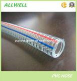 Tuyau renforcé en plastique de fil d'acier de PVC