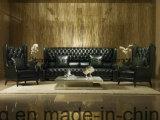 標準的なチェスターフィールドの革ソファーの家具