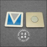 Distintivo quadrato di affari, magnete del frigorifero di stampa (GZHY-BADGE-027)