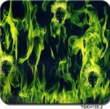 Impression hydrographique de vente chaude Tskh135-2 d'Aqua de film de films d'impression de transfert de l'eau de crâne et de flamme de largeur de Tsautop 0.5m/1m