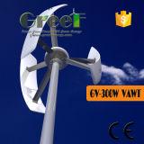 Vertical pequeno do sistema 300W da fora-Grade da turbina de vento com Ce