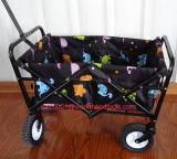 Carro de serviço público de dobramento portátil do jardim do vagão com poliéster opcional