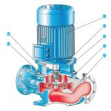 Pompe centrifuge verticale faite à l'usine d'étape simple de la Chine Dfg