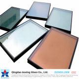 Vidrio reflexivo aislado/del color para el vidrio del edificio/el vidrio decorativo