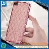 Caisse rose claire de téléphone de scintillement de diamant de Bling pour l'iPhone 6s