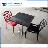 Tabelle pranzanti nere di superficie solide acriliche della mobilia del ristorante impostate