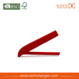Red Color Wholesale Wooden Hangers para roupas