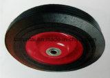 Il nero una rotella di gomma solida da 10 pollici per i carrelli e le righe della barra