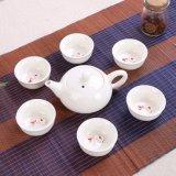 Juego de té de porcelana Lotes de regalo promocional regalos tetera de cerámica Taza de cerámica de conjuntos de juego de té