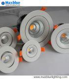 Il riflettore di Downlight dell'indicatore luminoso di soffitto del LED ha messo l'indicatore luminoso messo LED della lampada giù si illumina