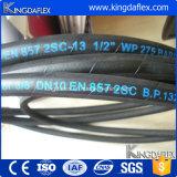 Flexible haute pression sur le fil en acier renforcé caoutchouc flexible d'huile hydraulique industrielle (FR857 2sc)