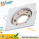 Gx53 Suporte da lâmpada LED branco dourado Chrome