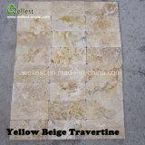 Pavimento di colore del travertino naturale di Wellest multi che pavimenta le mattonelle decorative della pietra della parete del reticolo della parete delle mattonelle