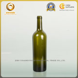 旧式な緑(561)のコルクの上が付いている空750mlワイン・ボトル