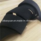 A correia em nylon tecido preto, conveniente prender a correia de fita