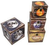 S/4 оформлены старинной Vintage Вселенной дизайн квадратных печать провод фиолетового цвета кожи/MDF деревянные окна соединительных линий для хранения