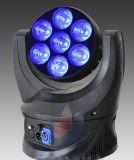 Éclairage léger principal mobile de sept morceaux LED