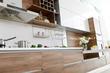 2018 Popular Combines Veneer and Lacquer Modern Furniture Kitchen Cabinets